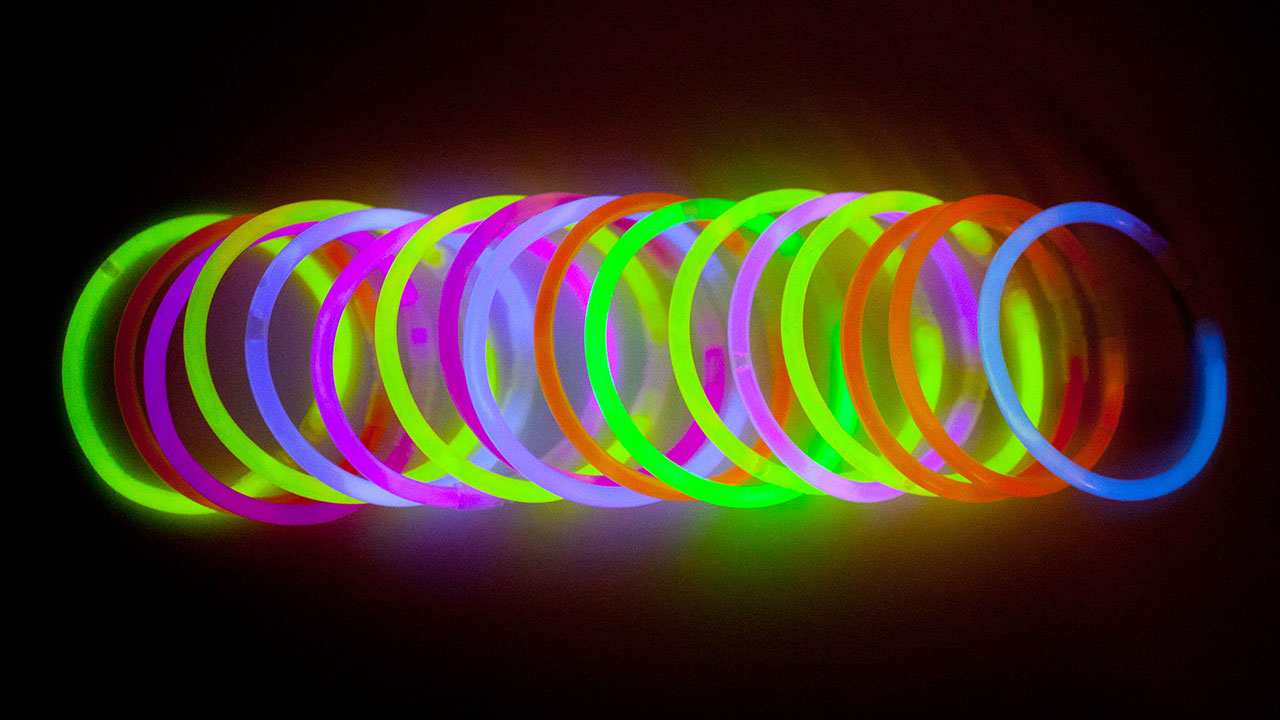 Selection of Light It Up Lightbands Glowing