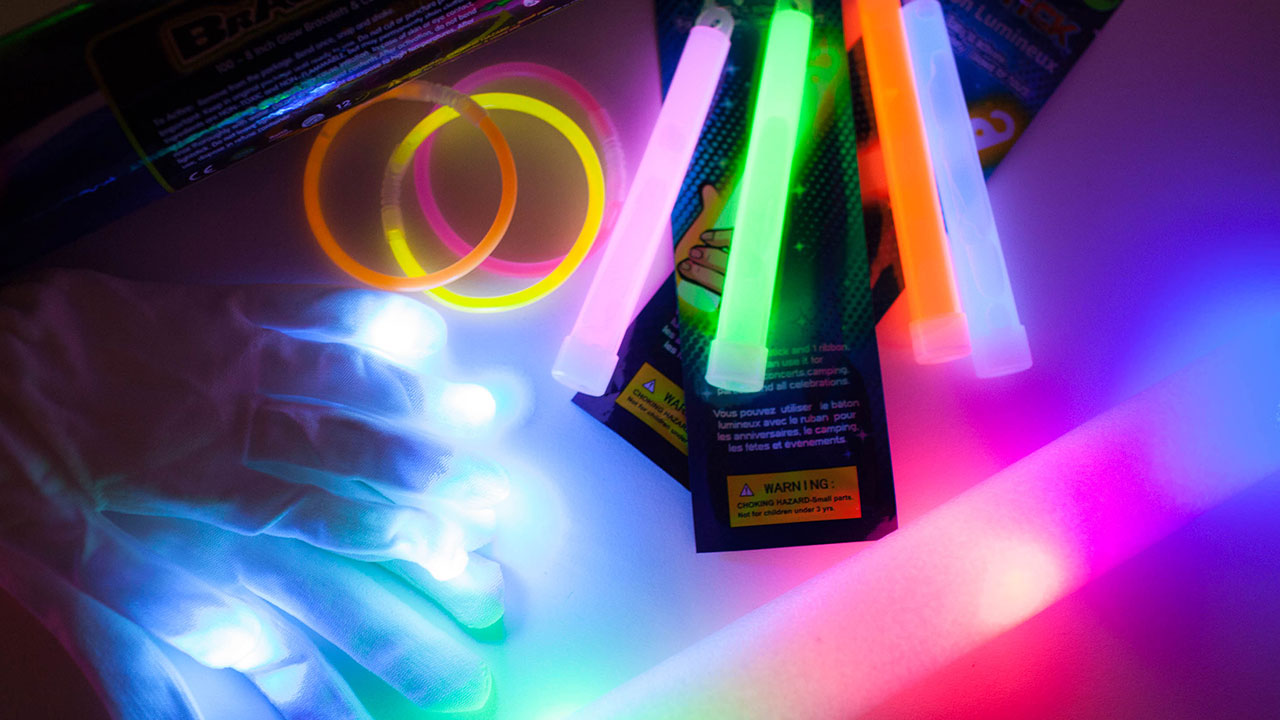 Light It Up Accessories including light bands and light sticks